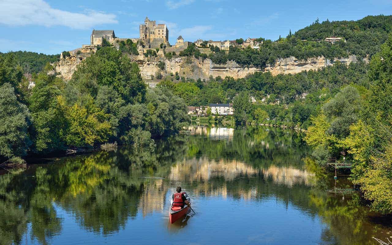 circuit canoe dordogne, Circuit des chateaux en canoë sur la riviére Dordogne