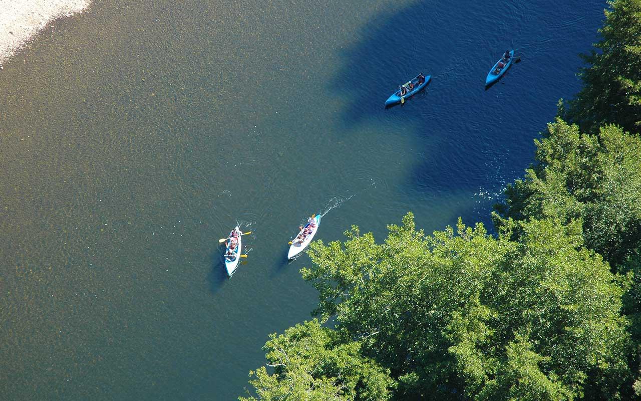 randonnée kayak dordogne en canoe sur la Dordogne