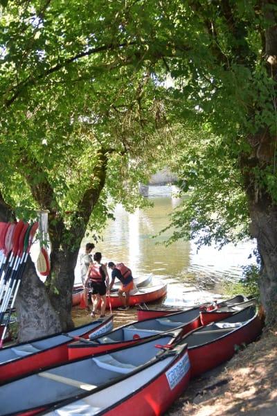 base de canoe kayak en dordogne sarlat