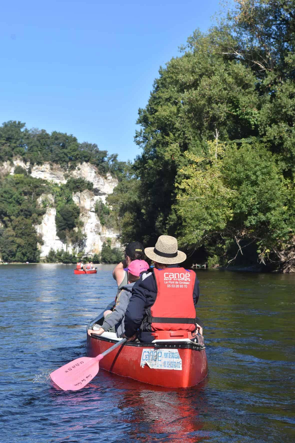 randonnée kayak dordogne, randonnées en canoe sur la Dordogne