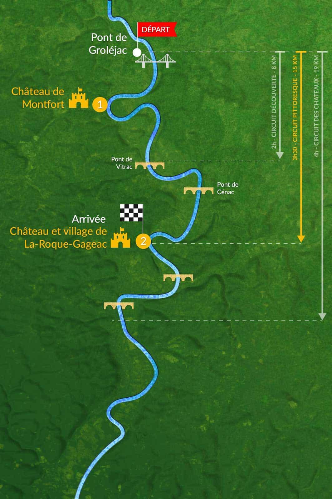 Circuit Pittoresque parcours canoe dordogne